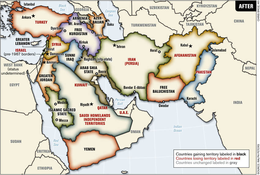 Blood Borders How A Better Middle East Would Look By Ralph Peters